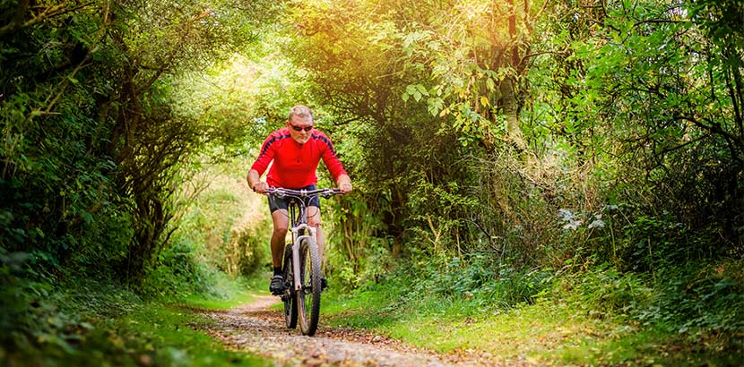 Cholesterin senken durch Rad fahren