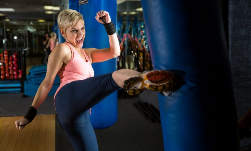 Selbstverteidigung fuer Frauen in Wien: Kickboxen für Frauen zur Selbstverteidigung