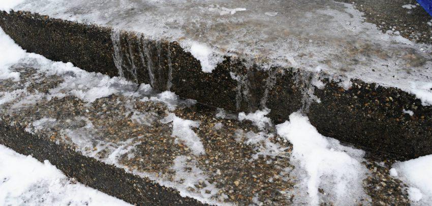 Treppenrenovierung von Betontreppen nach Frost