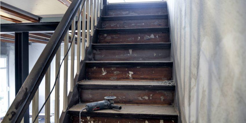 Treppenrenovierung an Holztreppe