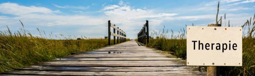 Steg, der durch die Dünen zum Strand führt. High Functioning Depression Therapie.