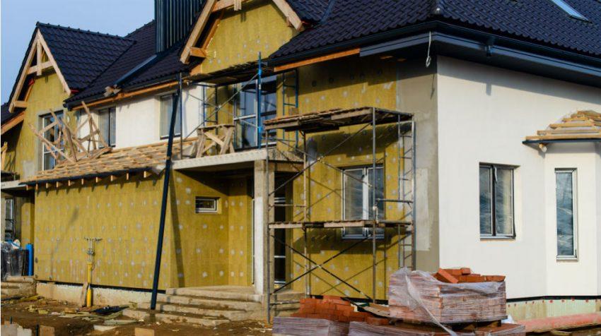 Steinwolle Fassadendämmung