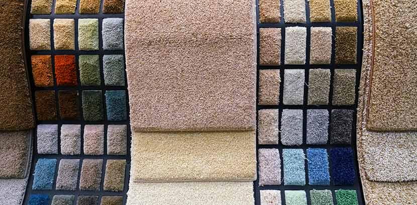 Teppich verlegen: Eine Auswahl verschiedener Teppichboden Muster