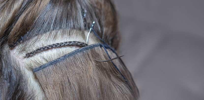 Haarverlangerung zum einnahen