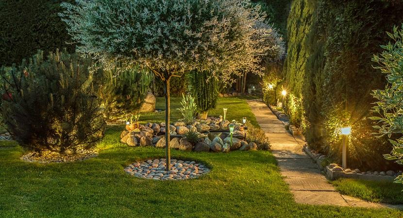 Wegbeleuchtung im Garten
