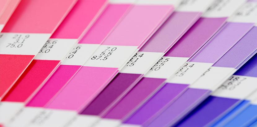 Farbfächer für Latexfarbe von matt bis glänzend