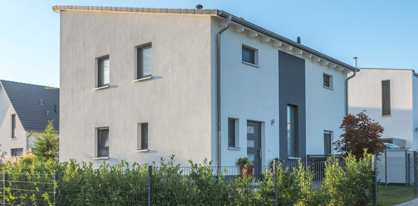 Dachformen: Haus mit Pultdach