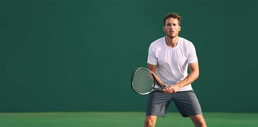Tennisarm vom Tennis spielen
