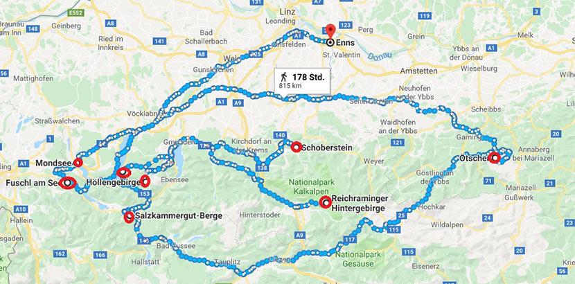 Wanderwege Schoberstein