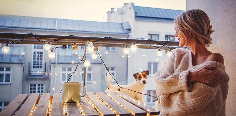 balkon gestalten mit der richtigen Beleuchtung