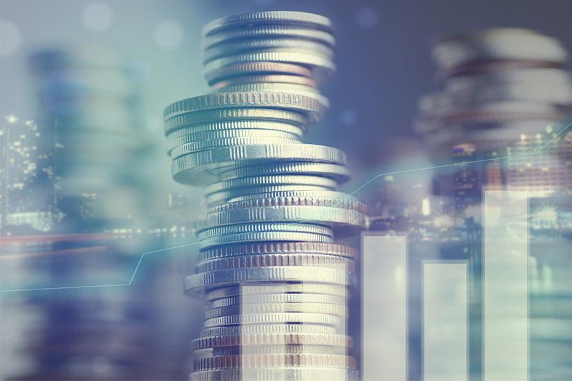 Münzen als Symbolbild für die Einkommensteuererklärung