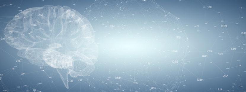 Vectorgrafik eines Gehirns mit Hirnströmen. Neurologe Wien.