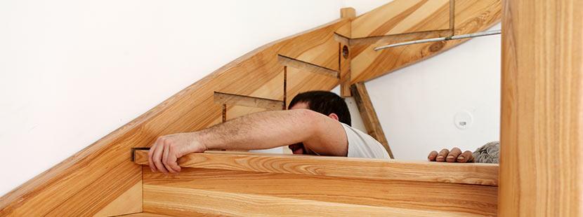 Wangentreppe aus Holz