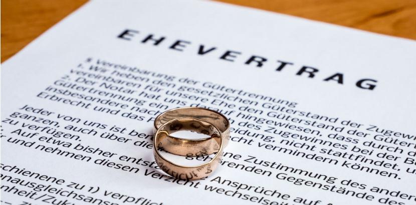 Ein Ehevertrag mit Eheringen