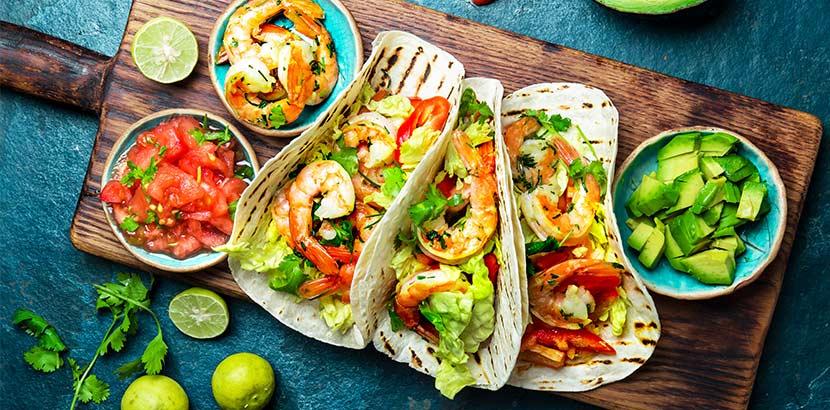 mexikanisch Essen in Wien - Tacos mit Shrimps
