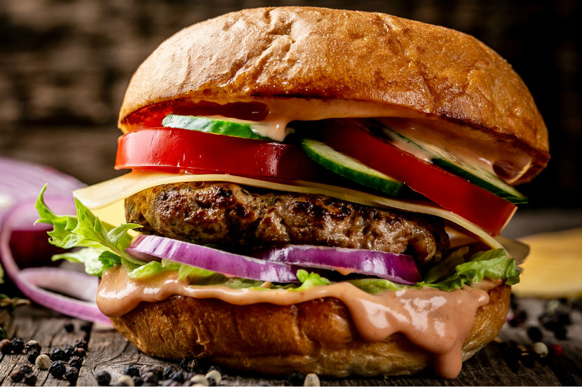 Ein saftiger Burger.