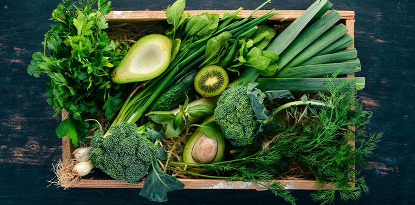 Phenylketonurie Diät: grünes Gemüse und Obst
