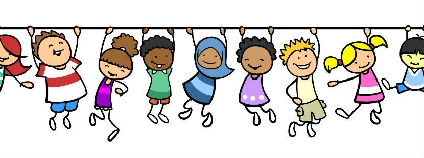 Eine Zeichnung mit Kindergartenkindern.
