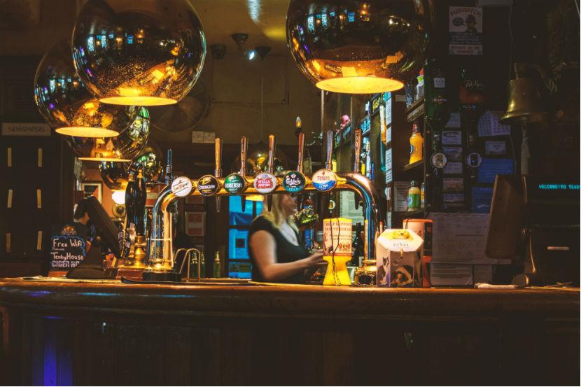 Irish Pub Wien: Eine Bar.