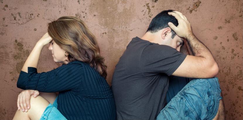 Einvernehmliche Scheidung: Ein zerstrittenes Paar.