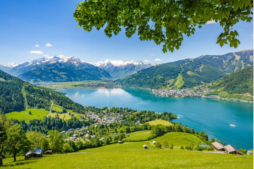 Idyllische Landschaft rund um den Zeller See.
