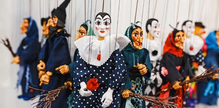 Marionetten im Kindertheater Wien.