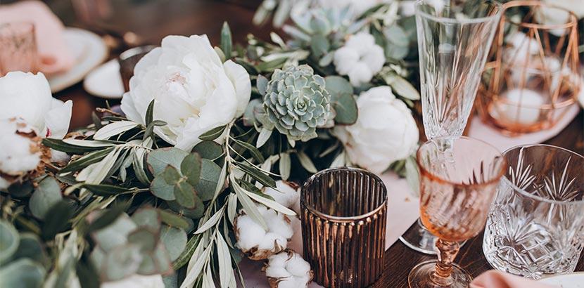 Hochzeitsplanung: Tischdekoration