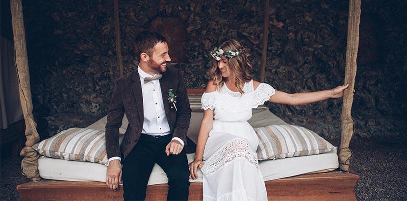 Hochzeitsplanung: Braut und Bräutigam