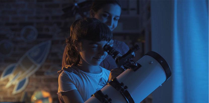 Kinder Teleskop für 9-jähriges Mädchen