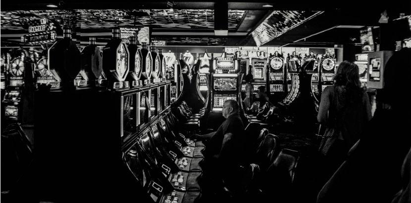 Spielsucht: eine Spielhalle