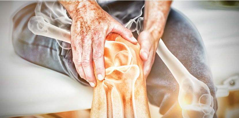 Physiotherapeut Graz: Symbolbild eines lädierten Knies