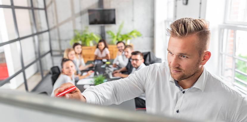 Systemische Methoden in einer Einheit Supervision in einem Unternehmen.