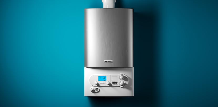 Eine Brennwert Gastherme mit niedrigem Energie Verbrauch.