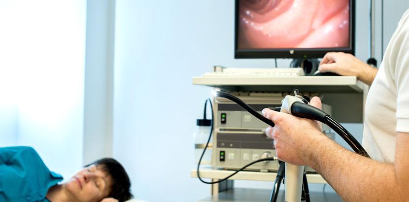 Gastroskopie eines Gastroenterologen