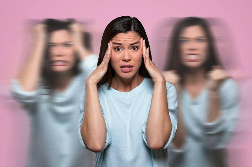 Patientin mit Borderline-Syndrom während Episode der Dissoziation.
