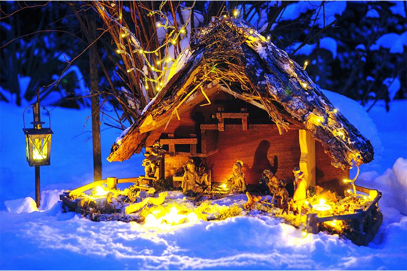 Weihnachtsbräuche in Österreich: Eine Krippenszene.