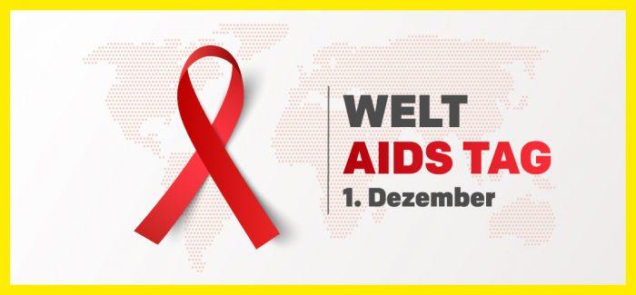 Die AIDS Schleife ist auch beim Welt-AIDS-Tag mit dabei. Foto: Adobe Stock (c) Yenko. Bildbearbeitung: HEROLD Business Data