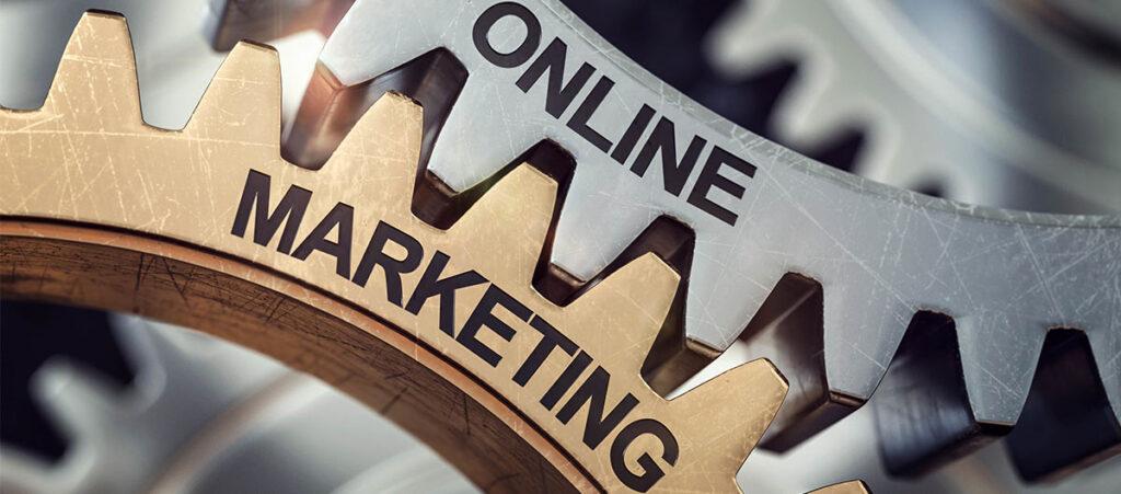 Online Marketing greifen wie Zahnräder ineinander