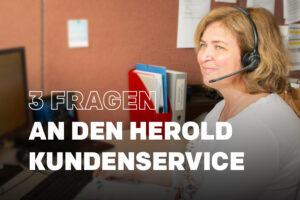 Die 3 häufigsten Fragen an den HEROLD Kundenservice