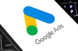 Google Ads Logo auf Display