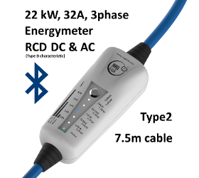 NRGkick 32A – Bluetooth & Energiemesseinheit – Typ2 – 7.5m