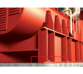 Schwingungsisolierung für Maschinenfundamente