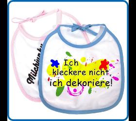 Babylätzchen (Weiss) mit farbigem Saum