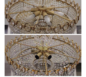 Restaurierung und Reinigung von Kristalleuchten