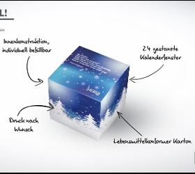 """ADVENTKALENDER IN WÜRFELFORM"" Druckerei"
