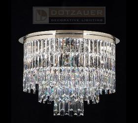 Kristall-Deckenleuchte mit Kristallbehang von Swarovski