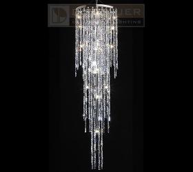 Kristall-Hängeleuchte mit Kristallbehang von Swarovski