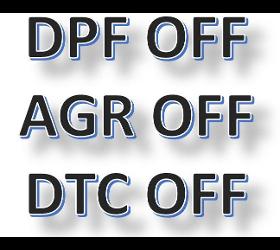 DPF - AGR - DTC OFF