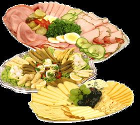 Wurstplatten und Käseplatten