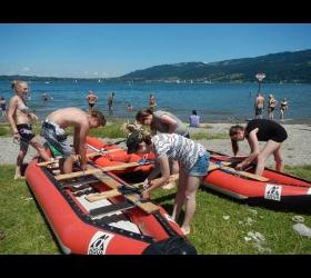 Floßbau am Bodensee - Der etwas andere Firmenausflug Adventure Sports